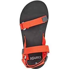 SOURCE Urban - Sandalias Mujer - naranja/negro